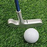 crestgolf 61cm Edelstahl zwei Wege Kinder Bullseye Putter, Golf Club Junior, age3.5(Pink/Blau Schaft mit Gold/Silber Kopf für Ihre Kinder)